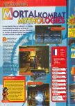 Scan of the review of Mortal Kombat Mythologies: Sub-Zero published in the magazine Consoles + 071