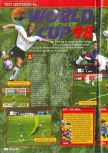Scan of the review of World Cup 98 published in the magazine Consoles + 076
