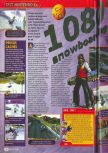 Scan of the review of 1080 Snowboarding published in the magazine Consoles + 081, page 1