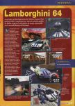 Scan of the preview of Automobili Lamborghini published in the magazine Consoles + 067