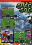 Scan of the review of International Superstar Soccer 64 published in the magazine Consoles + 067, page 1