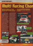 Scan of the preview of Multi Racing Championship published in the magazine Consoles + 067