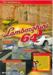 Scan of the review of Automobili Lamborghini published in the magazine Consoles + 070