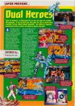 Scan of the preview of Dual Heroes published in the magazine Consoles + 070