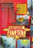 Scan of the review of Aero Fighters Assault published in the magazine Consoles + 072
