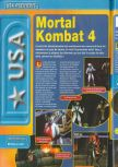 Scan of the preview of Mortal Kombat 4 published in the magazine Consoles + 072