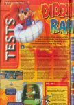 Scan of the review of Diddy Kong Racing published in the magazine Consoles + 072, page 1