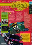 Scan of the review of NASCAR '99 published in the magazine Consoles + 082, page 1