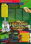 Scan of the review of Holy Magic Century published in the magazine Consoles + 082, page 1