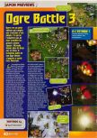 Scan of the preview of Ogre Battle 64: Person of Lordly Caliber published in the magazine Consoles + 082