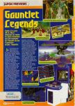 Scan of the preview of Gauntlet Legends published in the magazine Consoles + 083