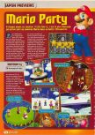 Scan of the preview of Mario Party published in the magazine Consoles + 083