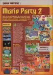 Scan of the preview of Mario Party 2 published in the magazine Consoles + 095