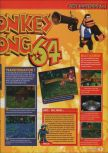 Scan of the review of Donkey Kong 64 published in the magazine Consoles + 095