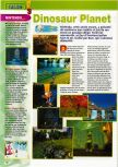 Scan of the preview of Dinosaur Planet published in the magazine Consoles + 101