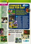 Scan of the preview of Conker's Bad Fur Day published in the magazine Consoles + 101