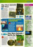 Scan of the preview of Star Wars: Episode I: Battle for Naboo published in the magazine Consoles + 101