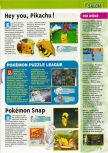 Scan of the preview of Hey You, Pikachu! published in the magazine Consoles + 101