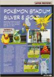 Scan of the preview of Pokemon Stadium 2 published in the magazine Consoles + 104