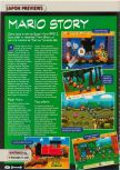 Scan of the preview of Paper Mario published in the magazine Consoles + 104