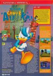 Scan of the review of Donald Duck: Quack Attack published in the magazine Consoles + 108