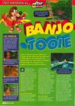 Scan of the review of Banjo-Tooie published in the magazine Consoles + 108