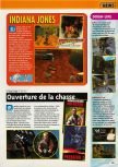 Scan of the preview of Indiana Jones and the Infernal Machine published in the magazine Consoles + 110