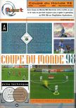 Scan of the review of World Cup 98 published in the magazine Joypad 075