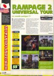 Scan of the review of Rampage 2: Universal Tour published in the magazine X64 18
