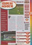 Scan of the review of World Cup 98 published in the magazine Player One 086