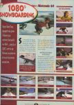 Scan of the review of 1080 Snowboarding published in the magazine Player One 091