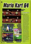 Scan of the preview of Mario Kart 64 published in the magazine Super Power 046