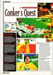 Scan of the preview of Conker's Bad Fur Day published in the magazine Super Power 047