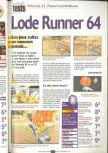 Scan of the review of Lode Runner 3D published in the magazine Player One 100, page 1