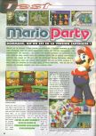 Scan of the review of Mario Party published in the magazine Consoles News 30
