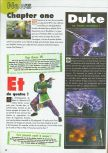 Scan of the preview of Duke Nukem Zero Hour published in the magazine Consoles News 30