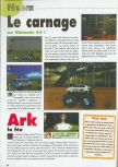 Scan of the preview of Carmageddon 64 published in the magazine Consoles News 30