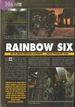 Scan of the preview of Tom Clancy's Rainbow Six published in the magazine Consoles News 30