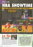 Scan of the preview of NBA Showtime: NBA on NBC published in the magazine Consoles News 30