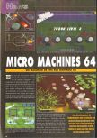 Scan of the preview of Micro Machines 64 Turbo published in the magazine Consoles News 30
