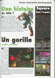 Scan of the preview of Donkey Kong 64 published in the magazine Consoles News 30