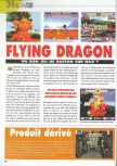 Scan of the preview of Flying Dragon published in the magazine Consoles News 30