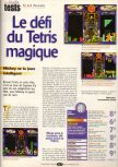 Scan of the review of Magical Tetris Challenge published in the magazine Player One 101