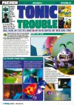 Scan of the preview of Tonic Trouble published in the magazine Consoles Max 02