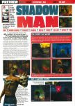 Scan of the preview of Shadow Man published in the magazine Consoles Max 02