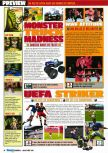 Scan of the preview of Monster Truck Madness 64 published in the magazine Consoles Max 02