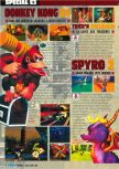 Scan of the preview of Donkey Kong 64 published in the magazine Consoles Max 02