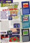 Scan of the preview of Earthworm Jim 3D published in the magazine Le Magazine Officiel Nintendo 05