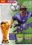 Scan of the review of World Cup 98 published in the magazine Le Magazine Officiel Nintendo 05