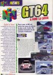 Scan of the preview of GT 64: Championship Edition published in the magazine Le Magazine Officiel Nintendo 05